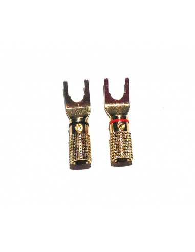 Black Rhodium Gold Plated Spade Connector